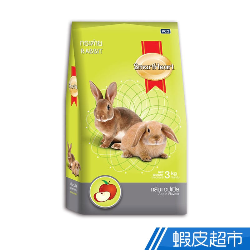 SmartHeart 慧心寶貝兔子飼料 - 蘋果/覆盆子口味 3kg