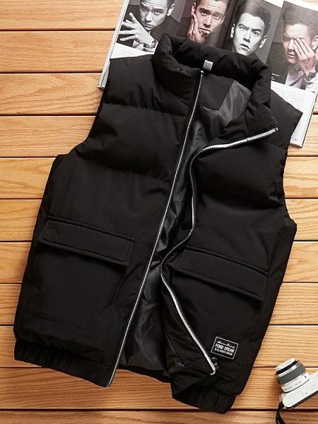 男士馬甲秋冬季夾克外穿保暖背心坎肩休閒工裝羽絨棉馬夾外套男潮 韓國時尚週