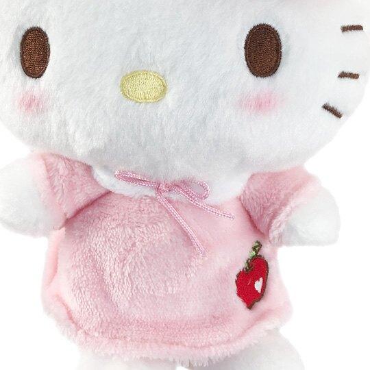 【領券折$120】小禮堂 Hello Kitty 絨毛玩偶 絨毛娃娃 布偶 (S 粉 睡帽)
