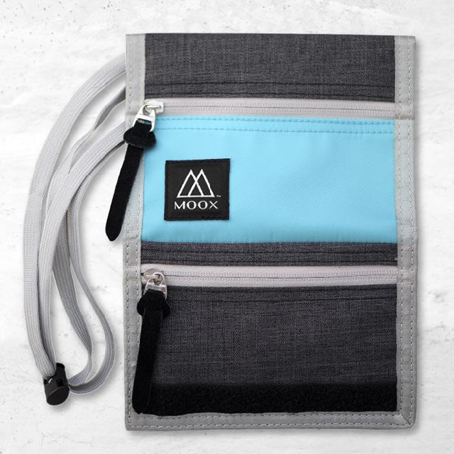 【穆克斯MOOX】 O9SB 輕量旅行收納包(湖水藍灰)