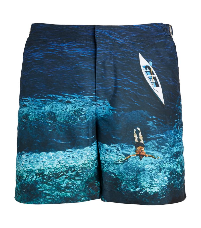 Orlebar Brown Deep Sea Print Bulldog Swim Shorts