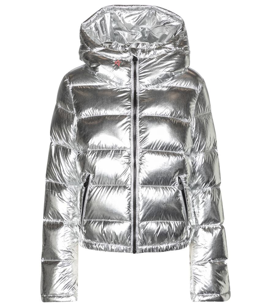Polar Flare metallic down ski jacket