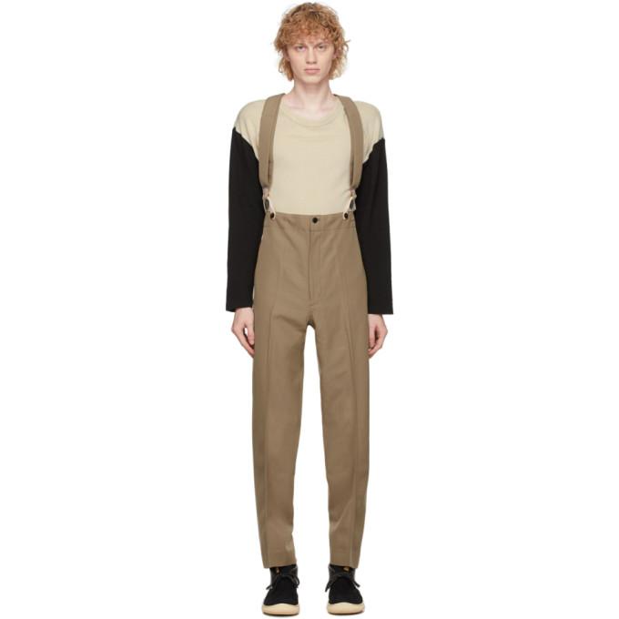 Visvim 驼色 Anton Suspender 长裤