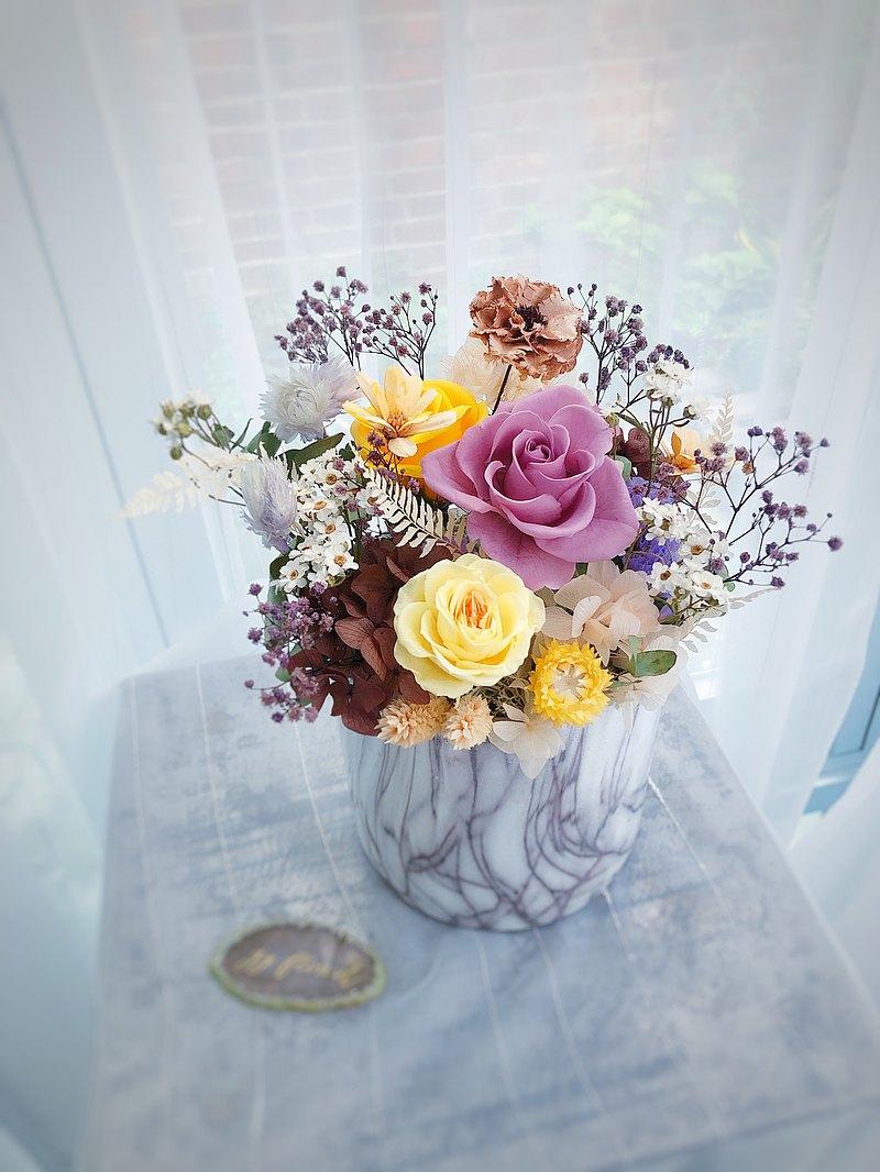 【桌花】開幕 誌慶 生日 禮物 居家 不凋花+乾燥花