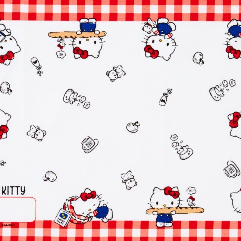小禮堂 Hello Kitty 日製 純棉紗布便當包巾 餐巾 手帕 桌巾 桌墊 25x35cm (紅白 格紋)