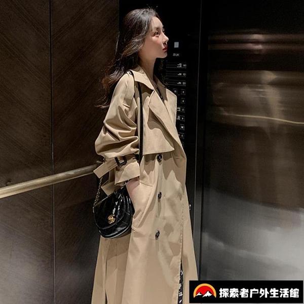 風衣中長款英倫風小個子設計感薄款外套女裝氣質【探索者戶外】