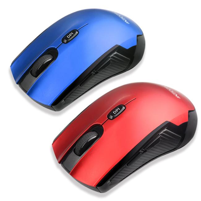 INTOPIC 2.4GHz飛碟無線光學滑鼠_MSW-760(顏色隨機出貨)