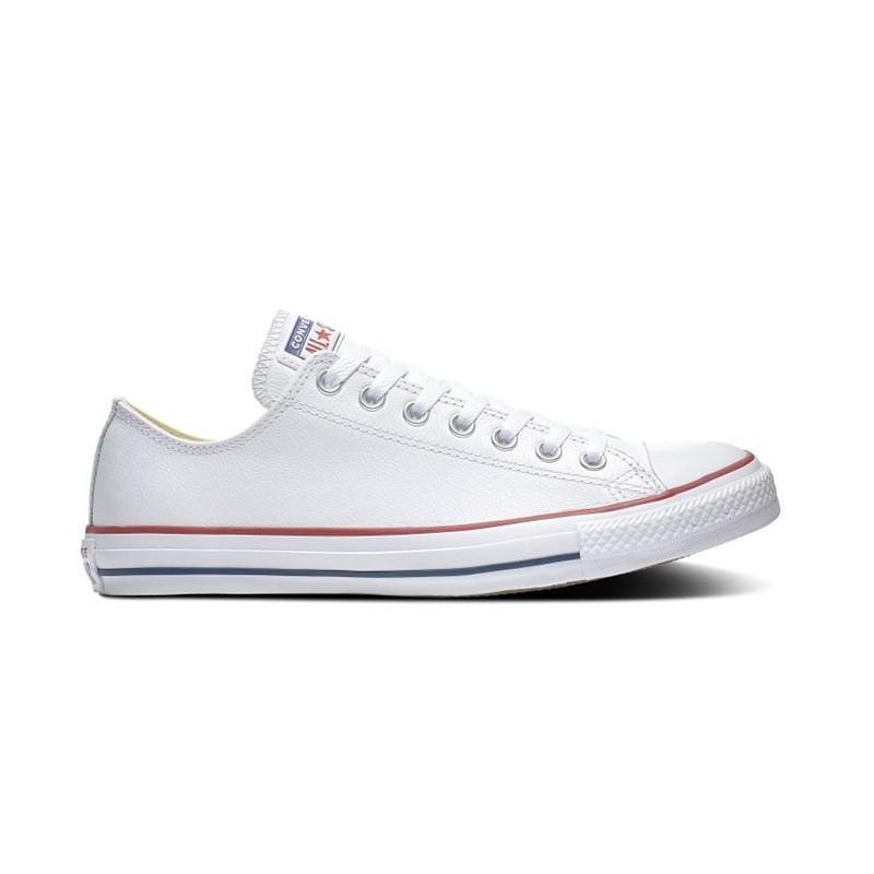 Converse Chuck Taylor All Star 男女鞋 白色 皮革 低筒 休閒鞋 132173C