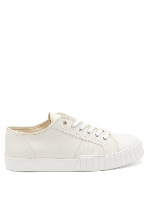 Primury - Divid Organic Cotton-canvas Trainers - Mens - White