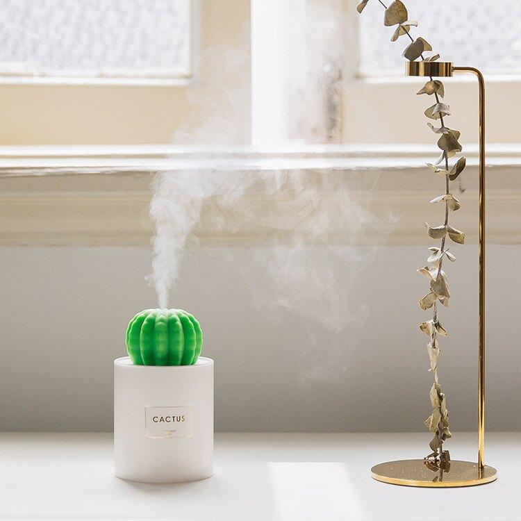 創意仙人掌USB車載迷你夜燈加濕器桌面噴霧 【JHOME+ 就是家】