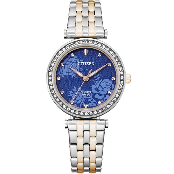 CITIZEN星辰 LADY'S 晶鑽時尚石英錶 ER0218-53L /30MM