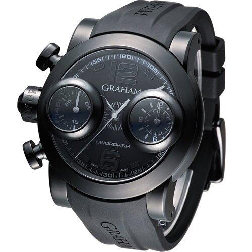 GRAHAM 格林漢 左冠計時機械腕錶 2SWBB.S36L.K58N