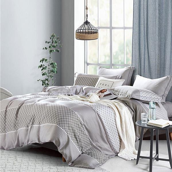 【南紡購物中心】【FITNESS】100%純天絲頂級60S雙人七件式床罩組-靜薇