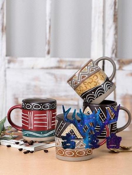 馬克杯陶瓷咖啡歐式帶蓋勺大容量水杯【古怪舍】