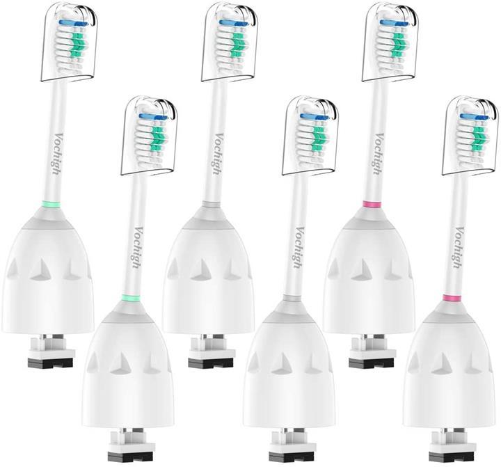 【美國代購】Vochigh替換牙刷頭:適合Sonicare E系列HX7022 / 66 Cleancare和Advance電動刷柄  6個