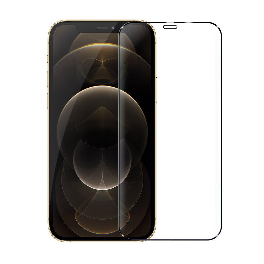 DAPAD FOR iPhone 12 Pro Max 6.7吋 極致防護2.5D鋼化玻璃保護貼-黑