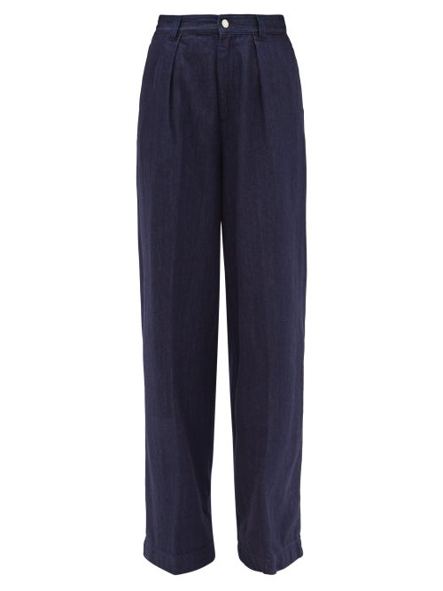 Made In Tomboy - Enea High-rise Wide-leg Jeans - Womens - Dark Denim