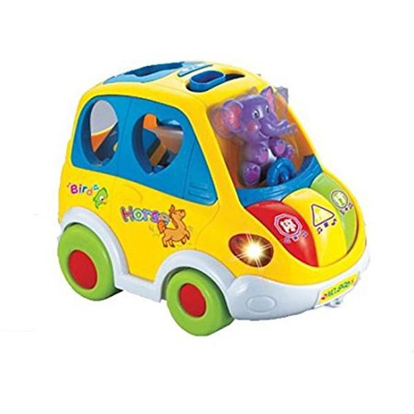 【南紡購物中心】【GCT玩具嚴選】聲光巴士立體積木