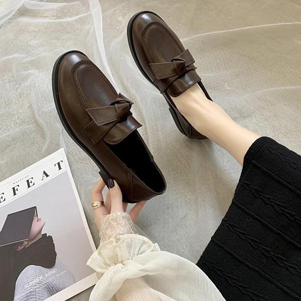 平底單鞋女2020春秋季新款JK鞋百搭樂福鞋復古低跟英倫風小皮鞋女 【雙十一狂歡購】