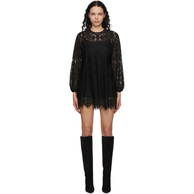 Wandering 黑色蕾丝连衣裙