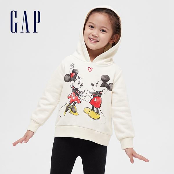 Gap女幼童 碳素軟磨系列 Gap x Disney 迪士尼系列連帽休閒上衣 649420-米妮圖案