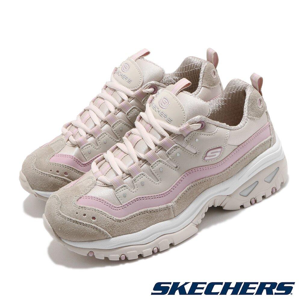 SKECHERS 休閒鞋 Energy-Ocean Tide 女鞋 老爹鞋 增高 避震 緩衝 修飾腿型 灰 粉 [13414TPLV]