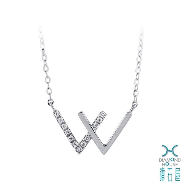 【鑽石屋】白K金鑽石項鍊