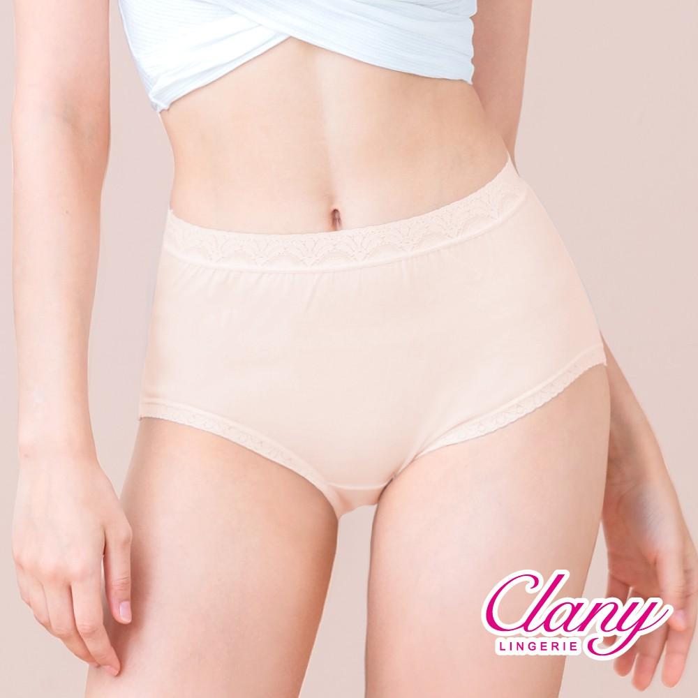 【可蘭霓Clany】 MIT親膚高腰透氣95%棉質 M-2XL內褲 奶油膚 2195-11