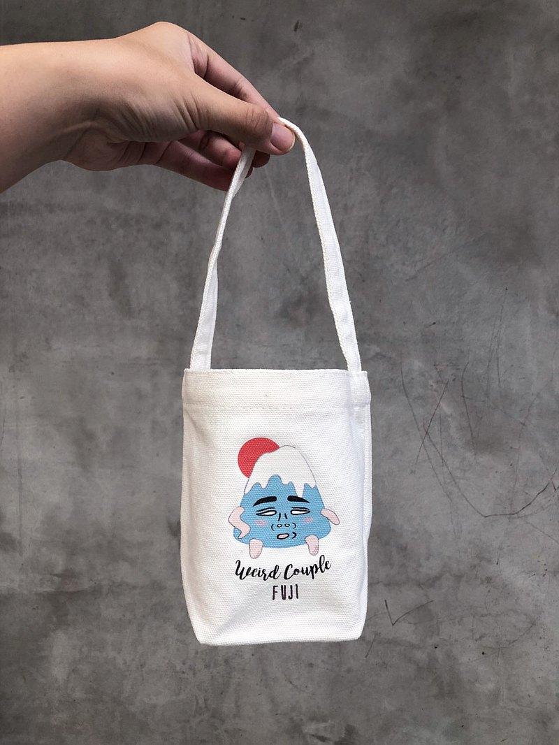 很想去旅行啊 厭世富士山 環保飲料提袋一個