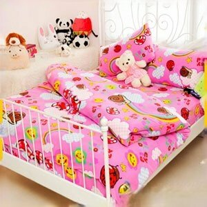 【Smiley World】《彩虹蝸牛窩Wonderland》雪芙絨加大床包被套四件組《童話粉》