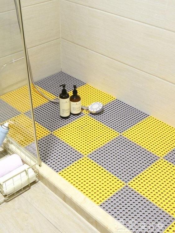 防滑墊浴室防滑墊衛生間防滑墊大號家用拼接淋浴房洗澡隔水鏤空塑膠台灣現貨 聖誕節交換禮物 雙12YJT