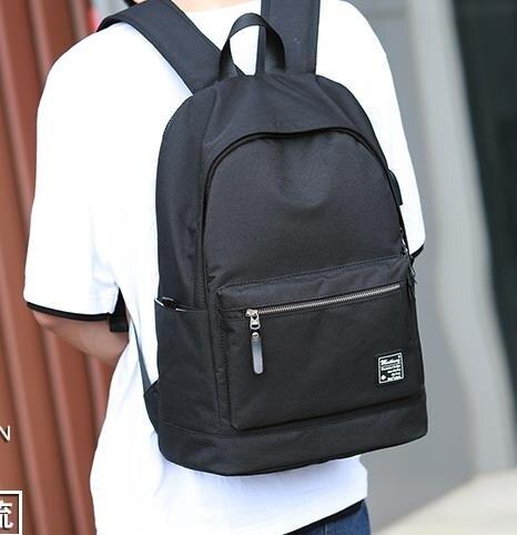 後背包 休閒簡約雙肩包男士背包時尚潮流韓版個性校園高中初中學生書包男