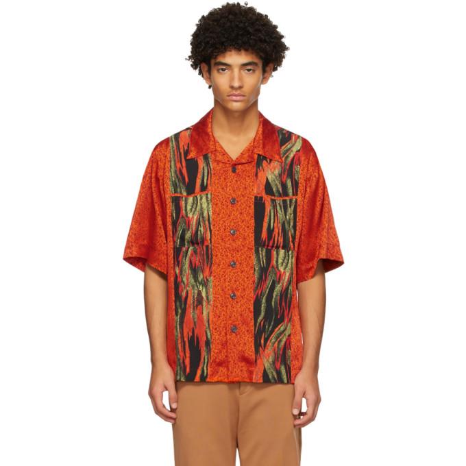 Vivienne Westwood 橙色 Francis Flames Print 短袖衬衫