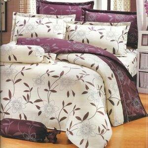 【花香樂譜】台灣製造(6.0呎x6.2呎)六件式雙人加大(100%純棉)舖棉床罩組-米色