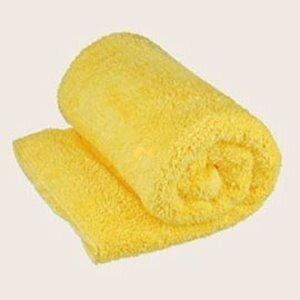 UltraDry 雪柔綿寶寶浴巾/枕巾(90x50cm)(B-嫩黃色)