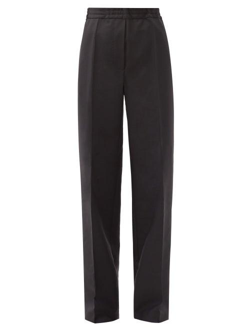 Acne Studios - Pamie Wide-leg Wool-blend Trousers - Womens - Black