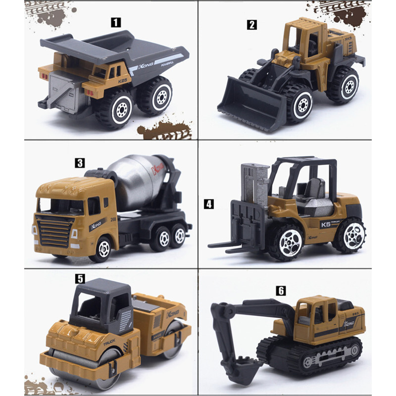 1:64火柴盒小汽車合金工程車(經典配色款)