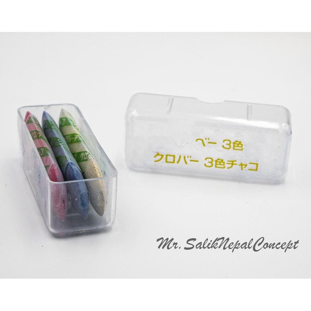 日本可樂牌 優良品質  三色 粉筆 粉餅  縫紉用 記號粉餅 盒裝 24-031 畫筆 記號筆 -