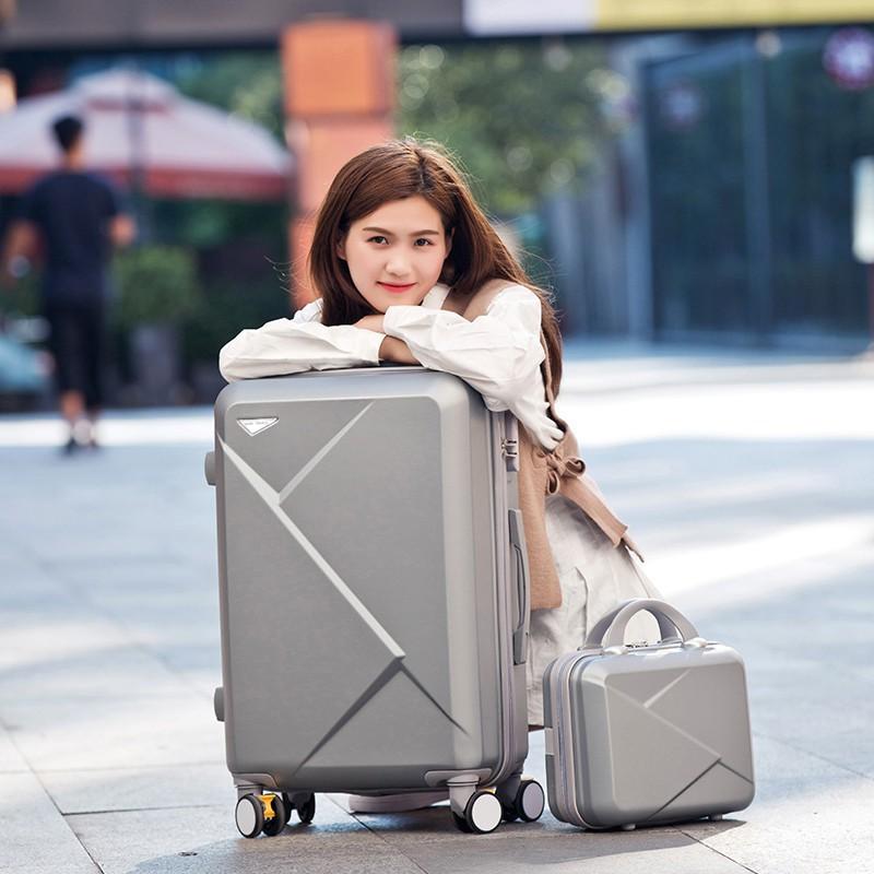 静美生活小店子母行李箱行李箱小清新萬向輪旅行箱登機箱20韓版子母箱男女潮26拉桿箱24寸