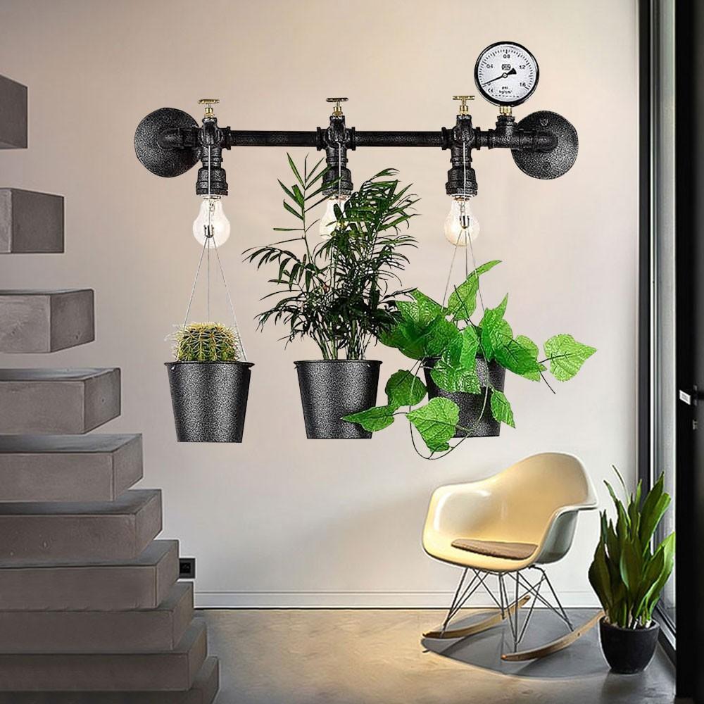 工業風 壁燈 植栽燈 療育植物燈 創意設計 3燈 光源另計 光彩GLM-00472