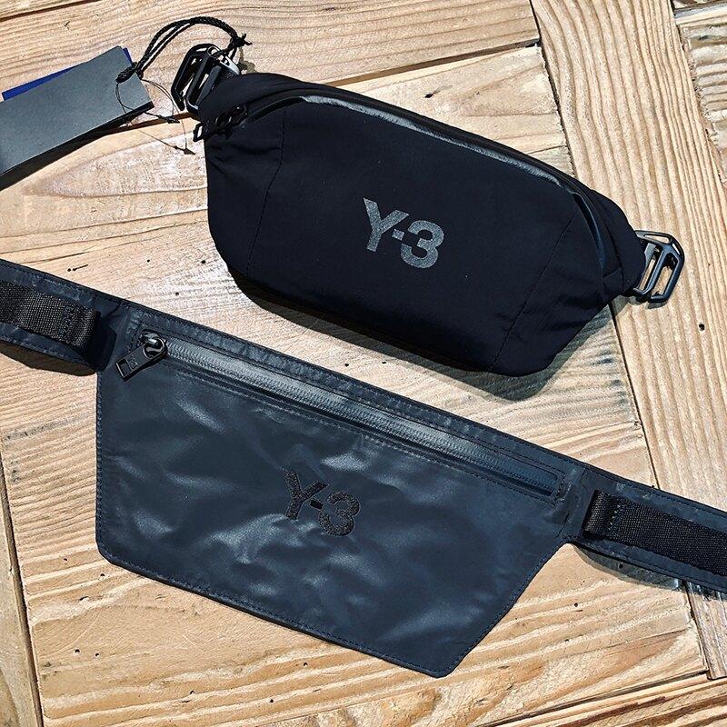 美國百分百【全新真品】Y-3 山本耀司 Yamamoto 包包 腰包 斜背包 小包 隨身包 Y3 配件 黑色 BA48