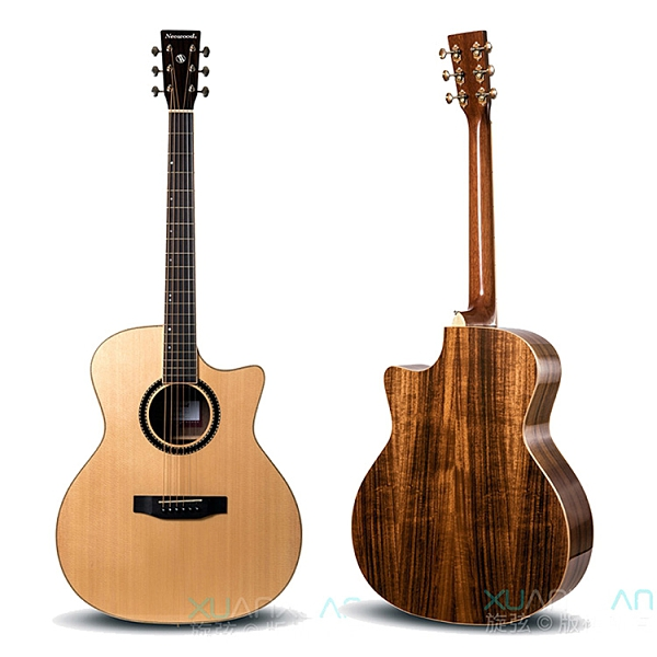 Neowood嚴選SGA-4GC A級雲杉單板吉他-GA桶身/缺角/附琴套
