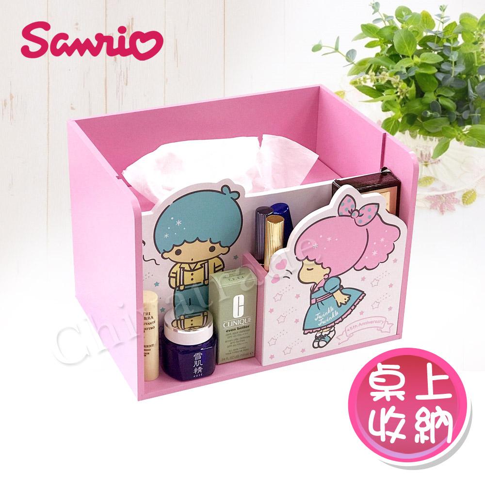 【Little Twin Stars】雙子星 面紙盒 筆筒 桌上收納 文具收納(正版授權台灣製)