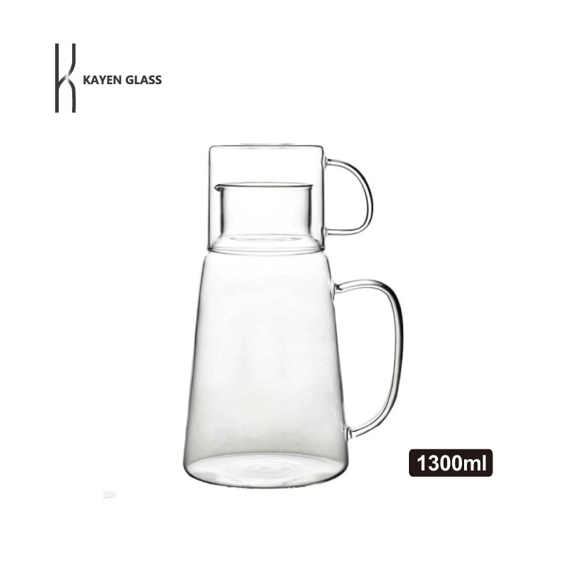 KAYEN日式加厚耐熱玻璃壺杯組1300ml