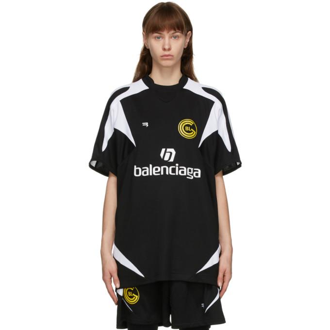 Balenciaga 黑色 Soccer T 恤
