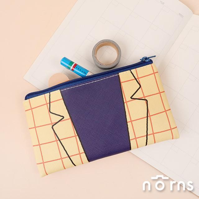 日貨蠟筆小新皮質方型筆袋 園長先生style- Norns日本進口 鉛筆盒 收納袋 幼稚園園長