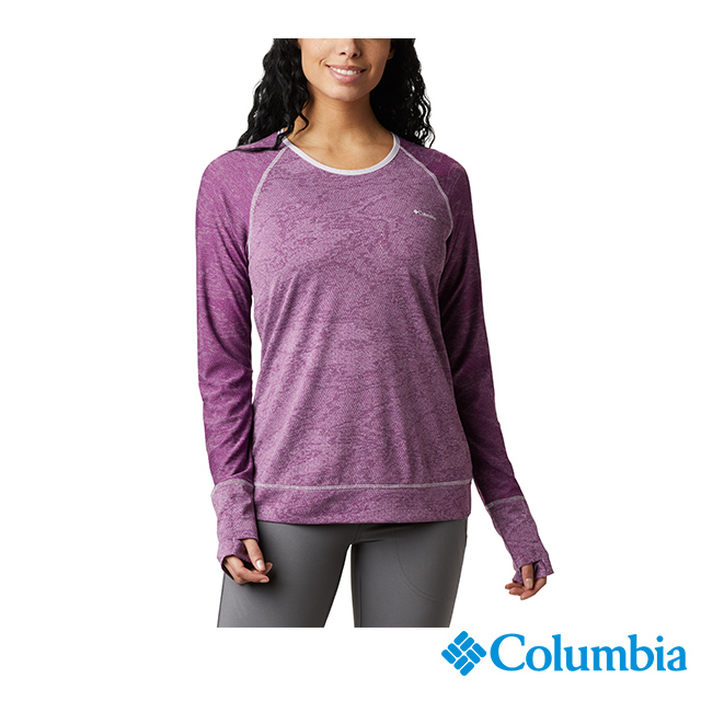 Columbia哥倫比亞 女款-快排長袖上衣-紫色 UAR27350PL