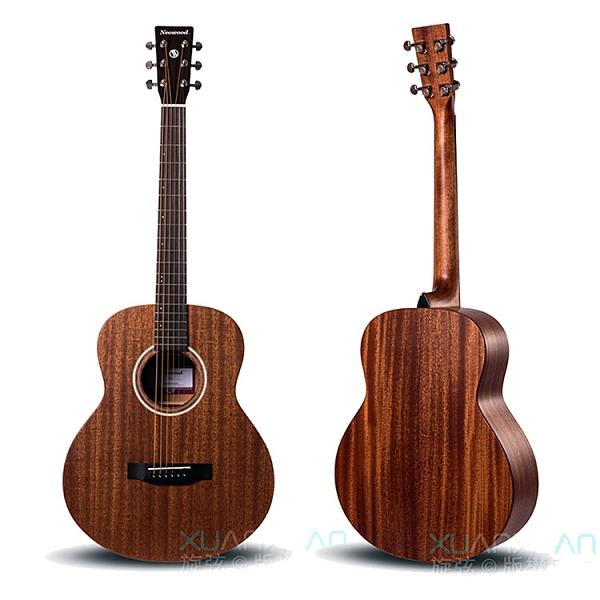 Neowood嚴選Swiftly GS-2全桃花心木 旅行吉他-附琴套