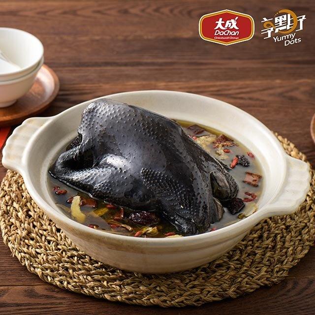 大成食品︱享點子 淮山烏骨帝王雞2400g