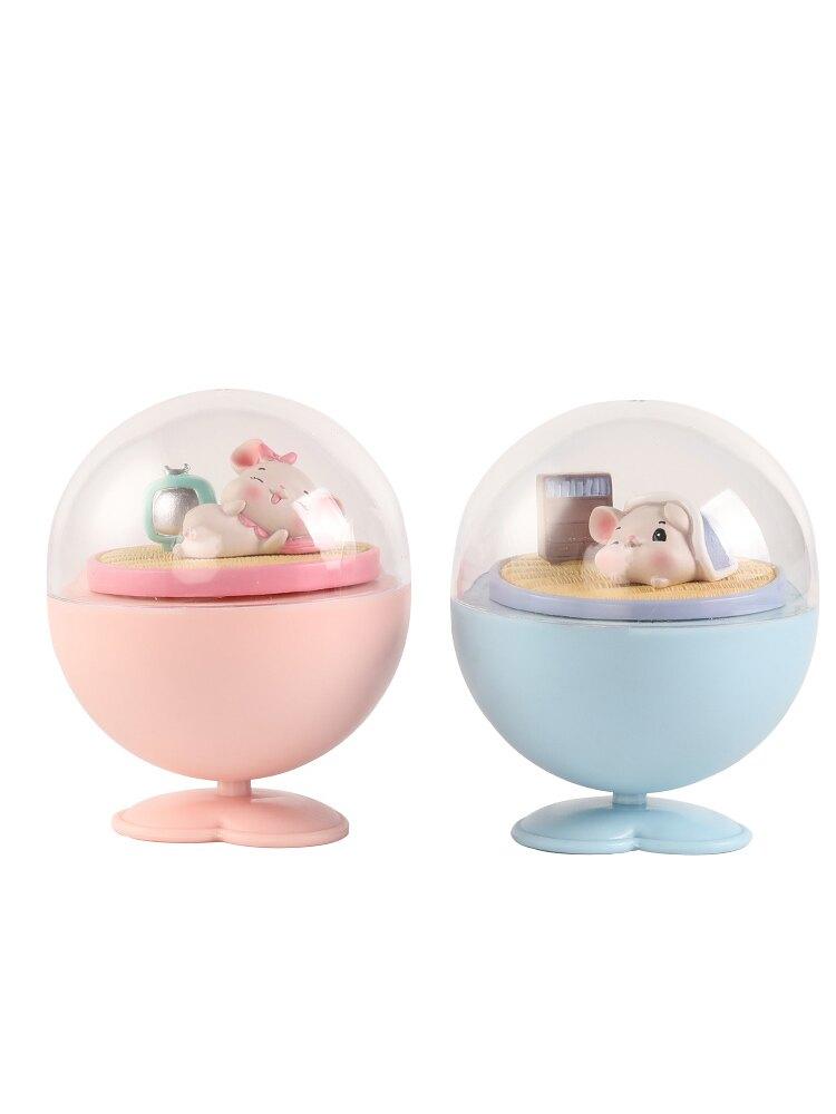 甜甜鼠音樂盒旋轉八音盒小女孩生日禮物公主